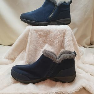 Easy Spirit excellite  blue tsuede booties, size 9